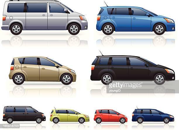 mpvs - hatchback stock illustrations, clip art, cartoons, & icons
