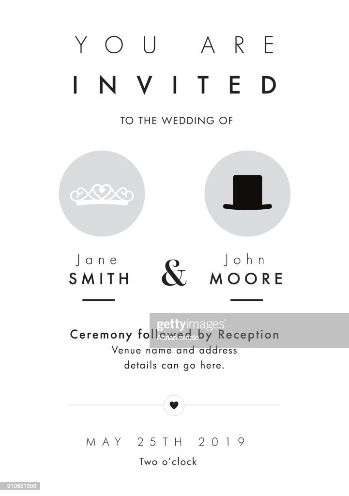 Mr and Mrs theme wedding invitation