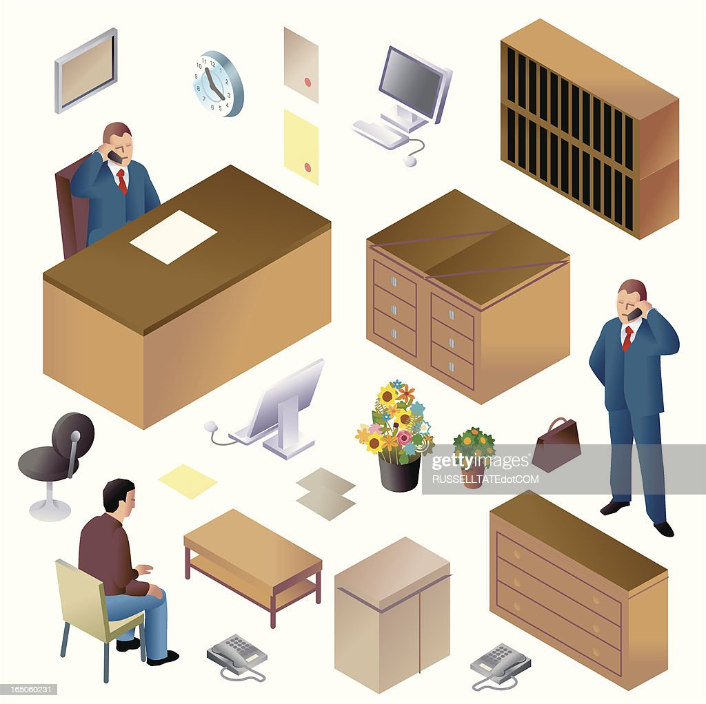 Mr. Big + Office Furniture ISO : Vector Art