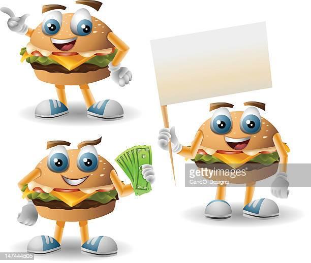 mr. burger: 3 in 1 - breakfast cartoon stock illustrations