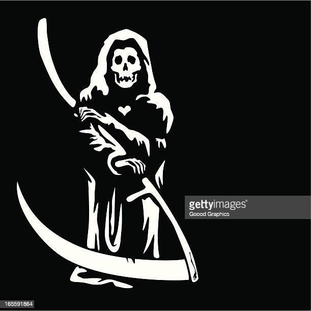 ilustraciones, imágenes clip art, dibujos animados e iconos de stock de mr. muerte un .a. k. el la muerte - la muerte
