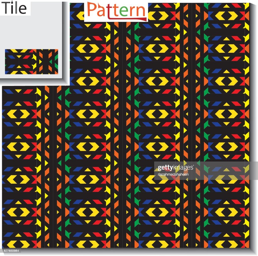 mudcloth african ethnic geometric seamless pattern, vector,Tribal pattern. Seamless pattern with geometric elements,Seamless colorful ethnic pattern. Geometric and aztec decor elements,