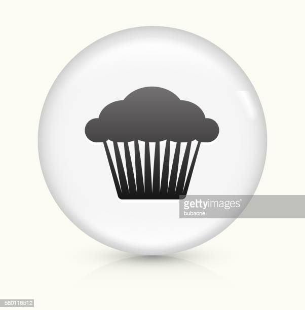 muffin icon on white round vector button - bran stock illustrations, clip art, cartoons, & icons