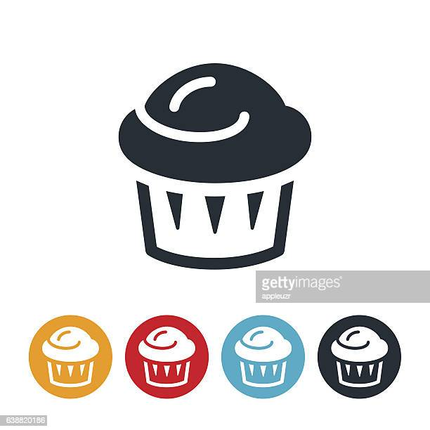 muffin icon - muffin stock illustrations, clip art, cartoons, & icons
