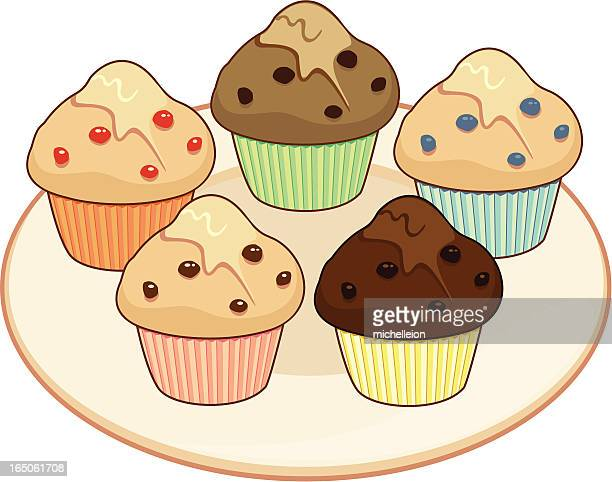 muffin selection - bran stock illustrations, clip art, cartoons, & icons