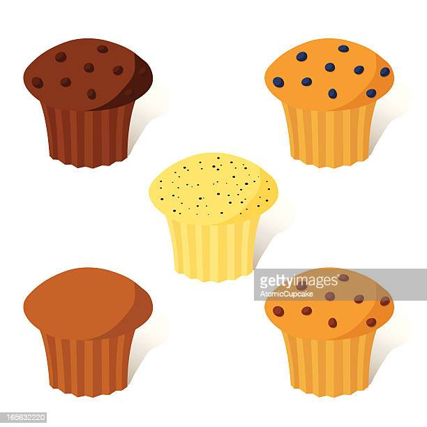 muffins - muffin stock illustrations, clip art, cartoons, & icons