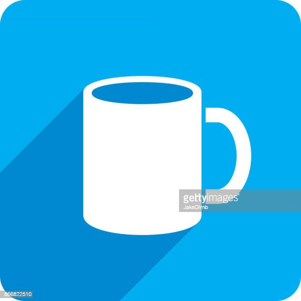 mug icon silhouette - mug stock illustrations