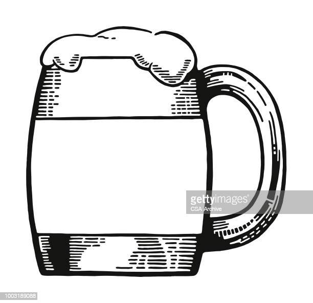 mug of beer - ale stock illustrations
