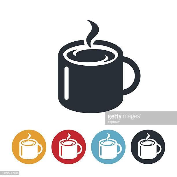 ilustraciones, imágenes clip art, dibujos animados e iconos de stock de mug of coffee icon - al vapor