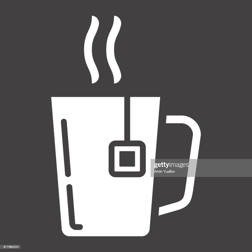 mug of tea solid icon business and breakfast vector graphics a filled pattern on a black background eps 10 high res vector graphic getty images https www gettyimages com detail illustration mug of tea solid icon business and breakfast royalty free illustration 817384224