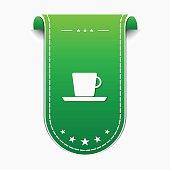 Mug Sign Green Vector Icon Design