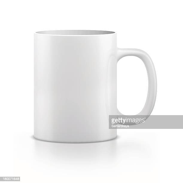 mug - white stock illustrations