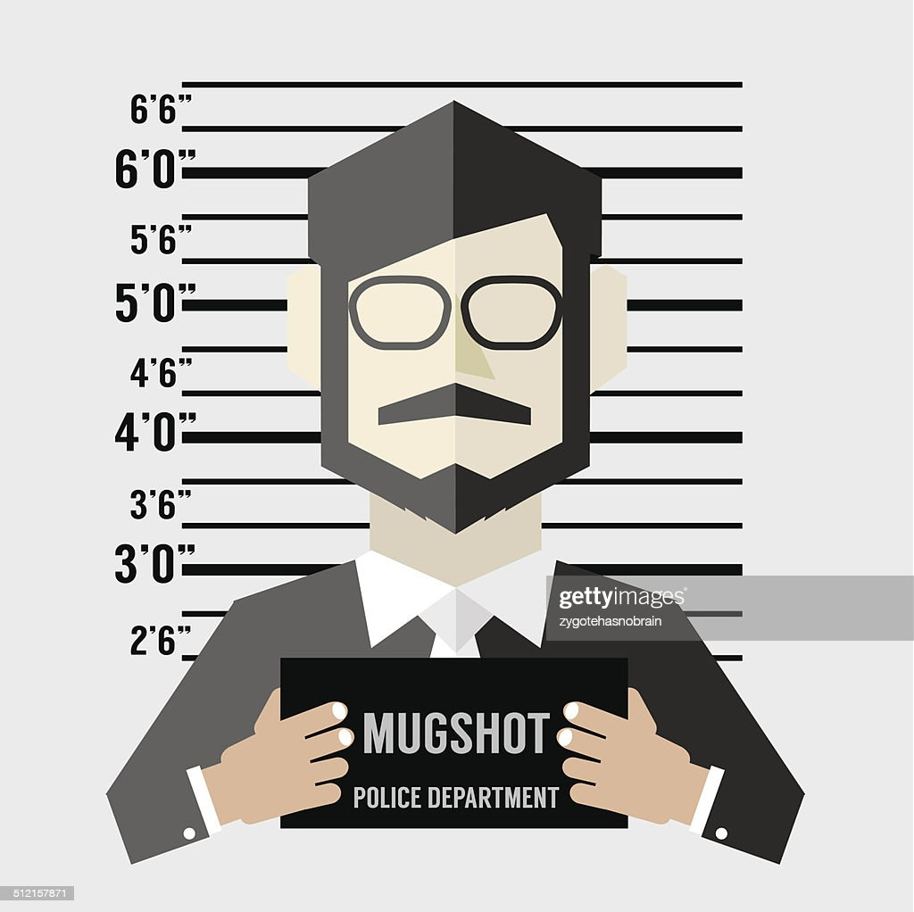 Mugshot Of Businessman Vector Illustration