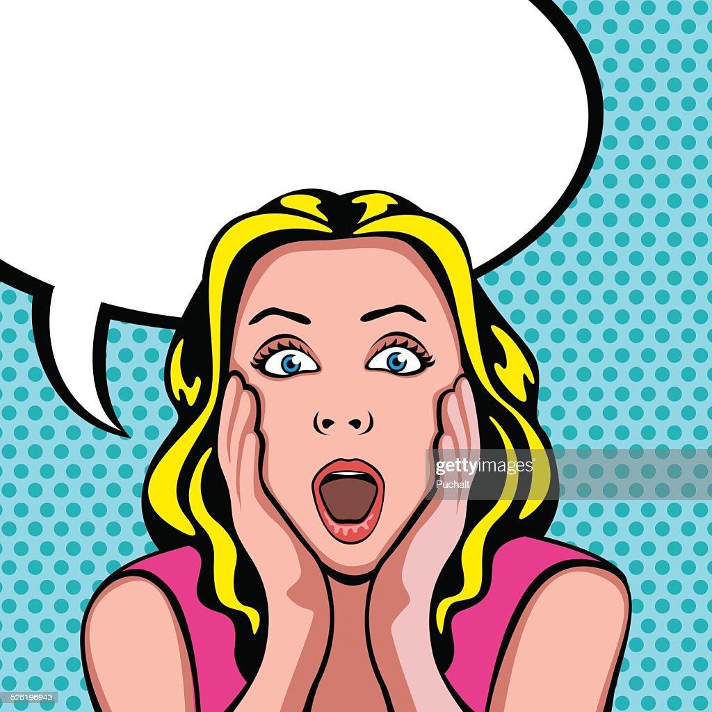 Mujer con expresión de sorpresa