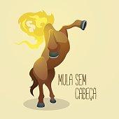 Mula sem cabeça (Headless Mule), a cursed woman