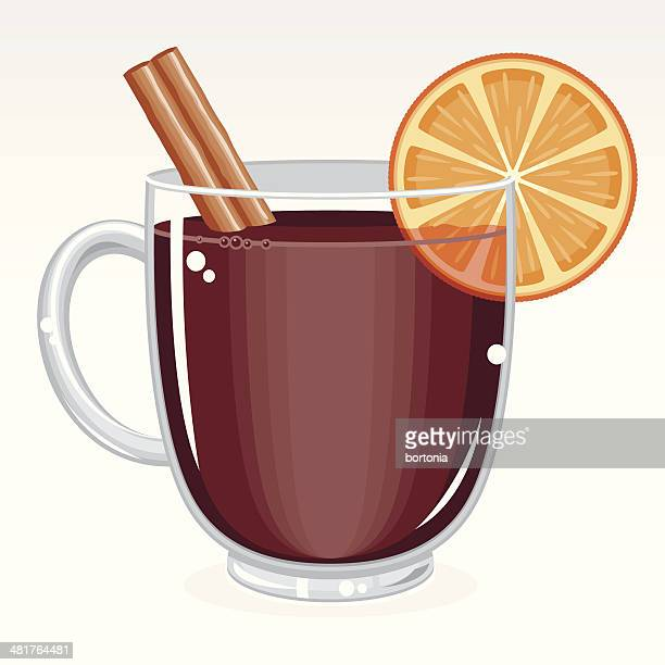 mulled wine - mulled wine stock illustrations, clip art, cartoons, & icons