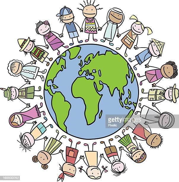 Mult-Ethnic Group Around Globe