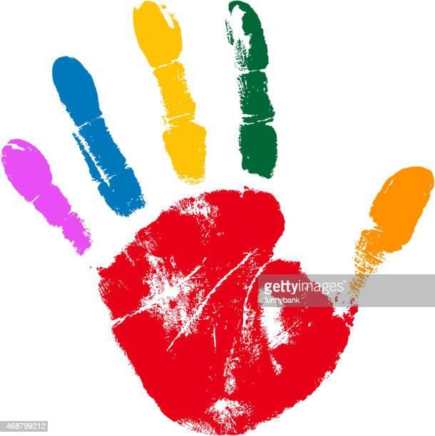 multi cores Marca da mão