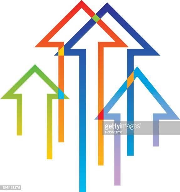 Multi Colored Arrows Icon