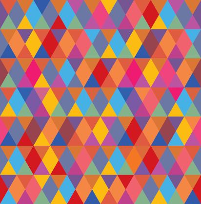 Multi Colored Diamond Pattern Seamless - gettyimageskorea