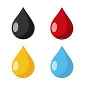 multi colored Drops Flat Design