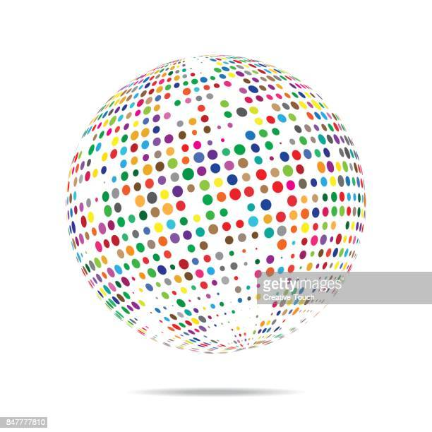 Multi colored sphere