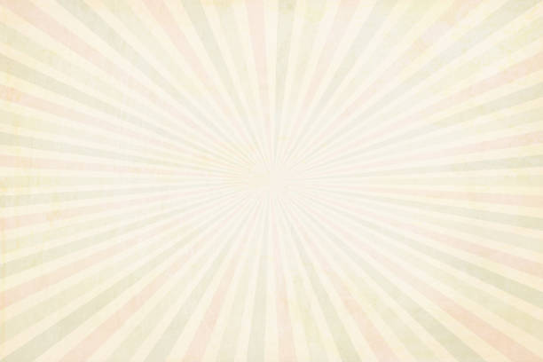 multi coloured(pale red, pale green and beige) pale yellowish sunburst - vector background - illustration - pastel stock illustrations