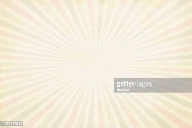multi coloured(pale red, pale green and beige) pale yellowish sunburst - vector background - illustration - cream colored stock illustrations