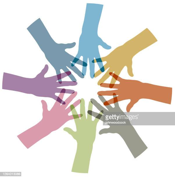 multi ethnic help illustration - respect stock illustrations