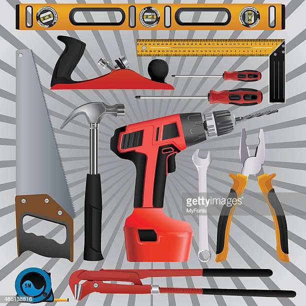 multi instruction tools - serrated stock illustrations, clip art, cartoons, & icons