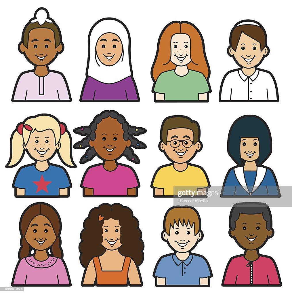 Children Headshots Stock Illustrations – 5 Children Headshots Stock  Illustrations, Vectors & Clipart - Dreamstime