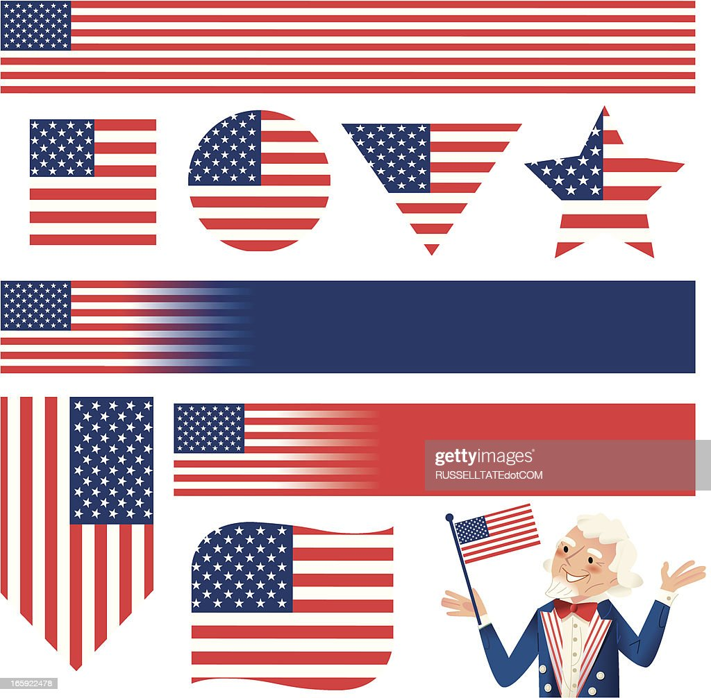 Multi shaped Stars and Stripes
