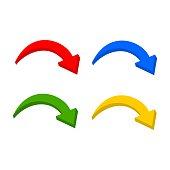 Multicolor 3D set arrow