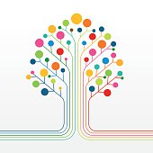 Multicolor abstract tree