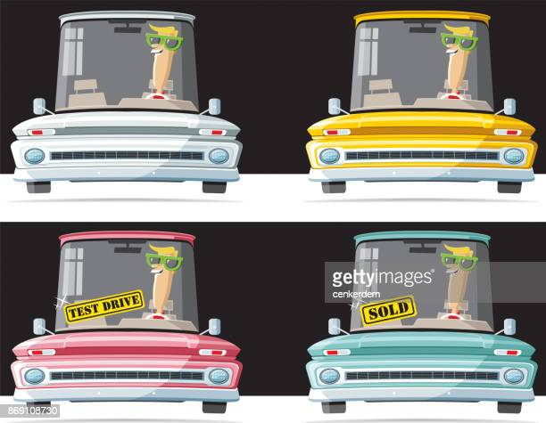 multicolor american - car ownership stock illustrations, clip art, cartoons, & icons
