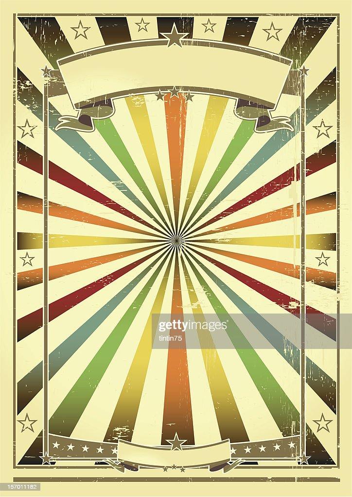 Multicolor background retro