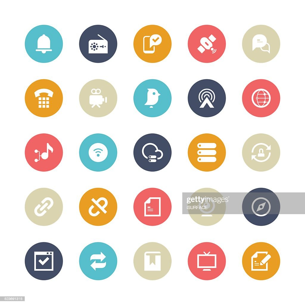 Multi-Color Cycle Icons for Communication