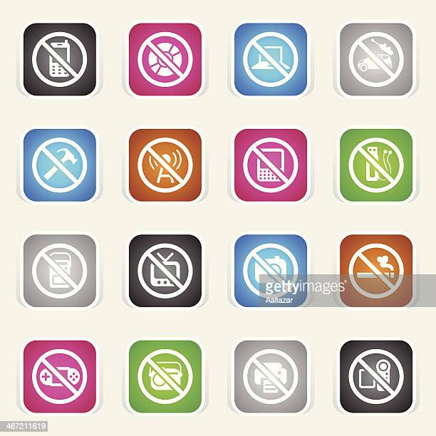 Multicolor Icons - Airplane On Board Restrictions
