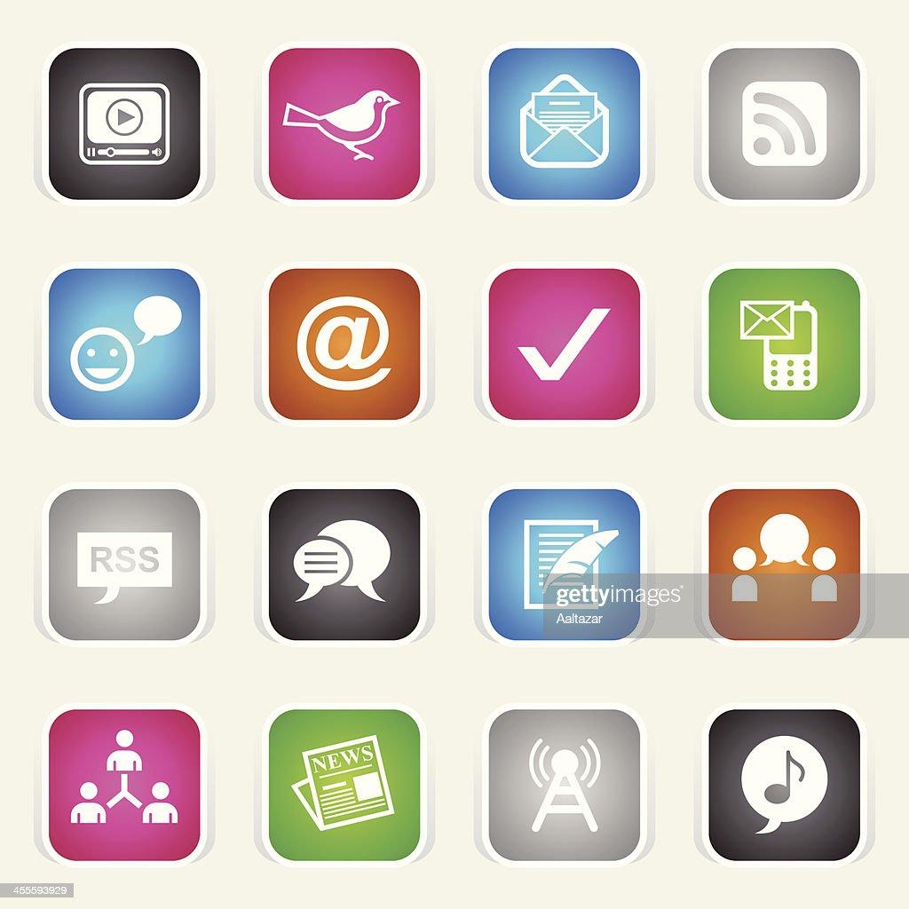 Multicolor Icons - Blogging