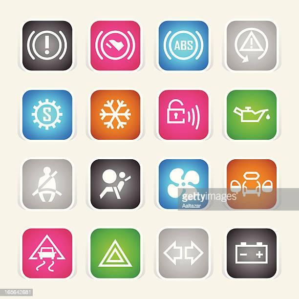 Multicolor Icons - Car Control Indicators