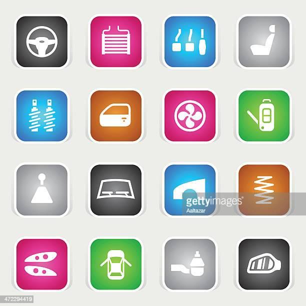 Multicolor Icons - Car Parts