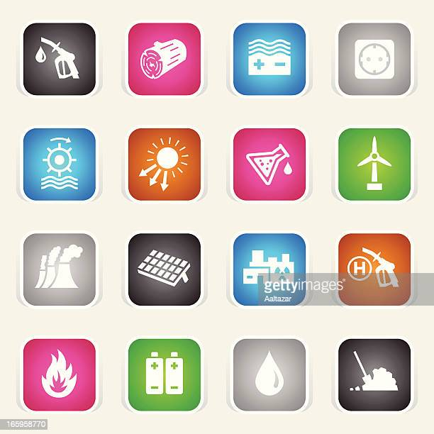 multicolor icons - energy sources - biodiesel stock illustrations, clip art, cartoons, & icons