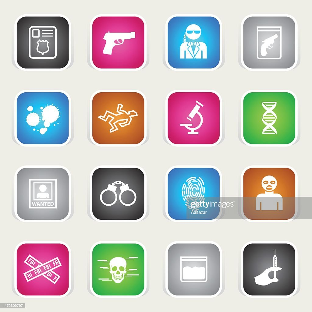 Multicolor Icons - FBI & Forensics