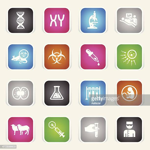 Multicolor Icons - Genetics & Cloning