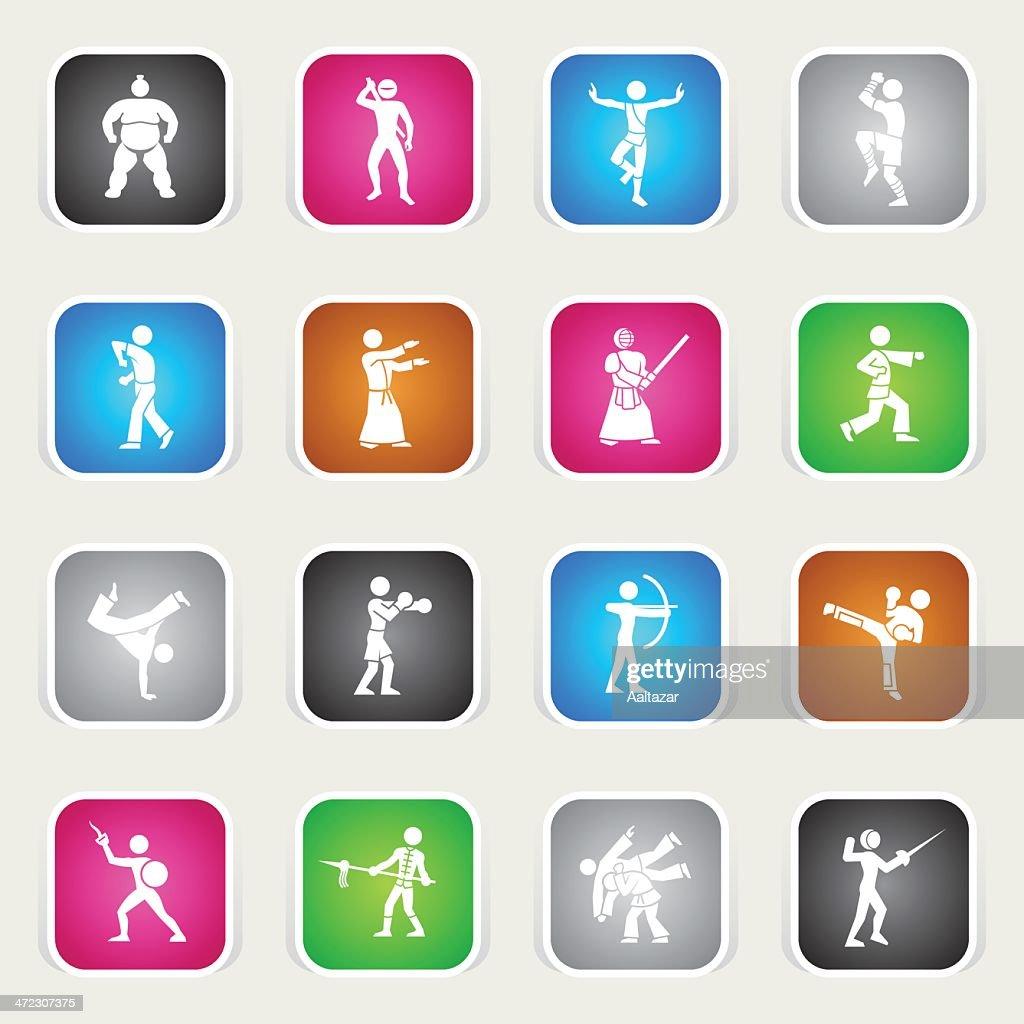 Multicolor Icons - Martial Arts