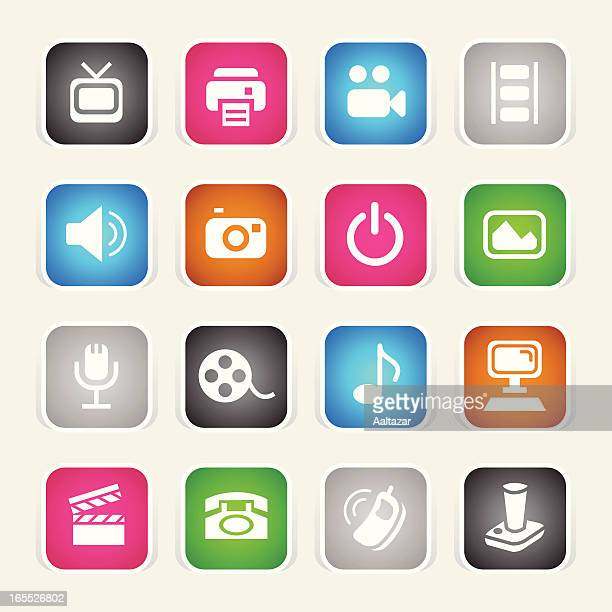 Multicolor Icons - Media