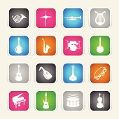 Multicolor Icons - Musical Instruments
