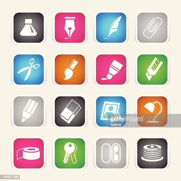 multicolor icons - office - scotch whiskey stock illustrations, clip art, cartoons, & icons