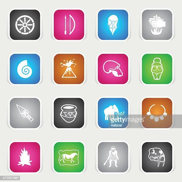 Multicolor Icons - Prehistory