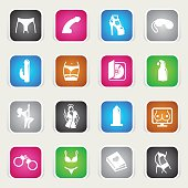 Multicolor Icons - Sex Industry